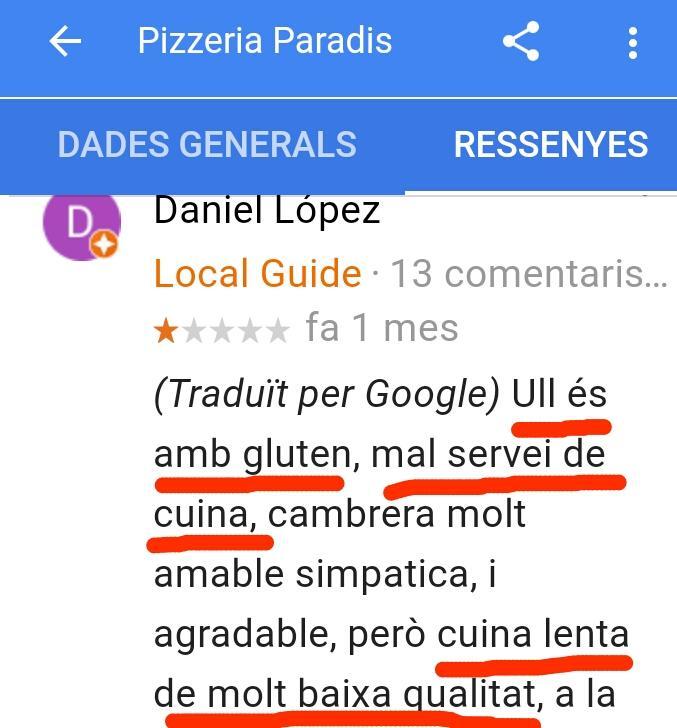 Paella estartit restaurant paradis pizzeria