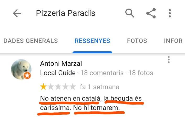 Pizzeria estartit paradis