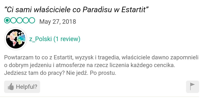 Paradis opinion estartit